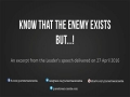 Know that the enemy exists but ...!   Leader of the Islamic Revolution   Farsi sub English
