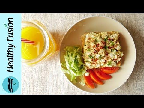 [Quick Recipe] Quick Egg Salad Sandwich - English Urdu