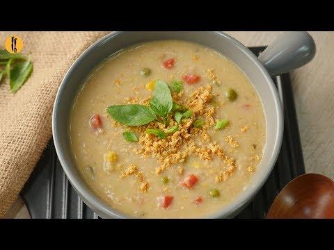 [Quick Recipe] Creamy Chicken Tikka Rice Soup - English Urdu