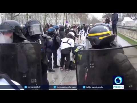 [20 January 2019] France faces 10th consecutive Saturday of angry anti-govt. protests - English