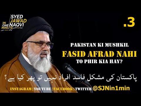 [Clip]  SJNin1Min 3 - Pakistan ki Mushkil Fasid Afrad Nahi Tou Phir Kia Hai?- Urdu