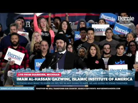 The American Brand of ISLAM | Hassan Al-Qazwini endorses Bernie Sanders | English