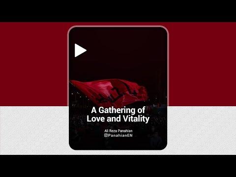 [Clip] A Gathering of Love and Vitality |Agha  Ali Reza Panahian | Muharram 1443,2021 Farsi Sub English