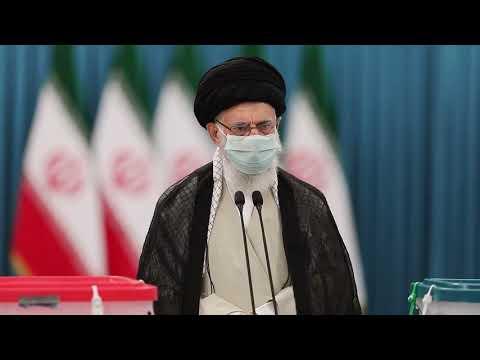 Ayatollah Khamenei Vote Casting For Presedential Elections 2021 - Farsi