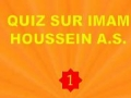 Quiz 1 sur Imam Houssain as - francais